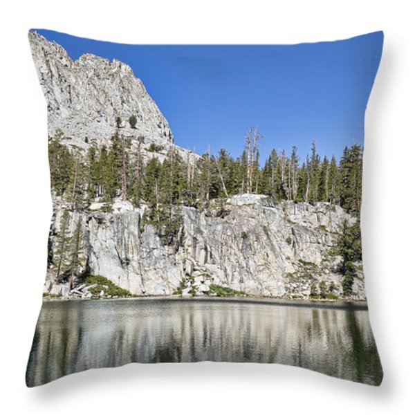 Crystal Crag Throw Pillow by Kelley King