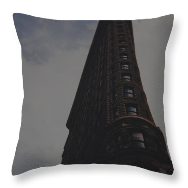 Flat Iron Building Throw Pillow by Rob Hans