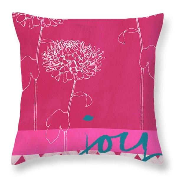 Joy Throw Pillow by Linda Woods