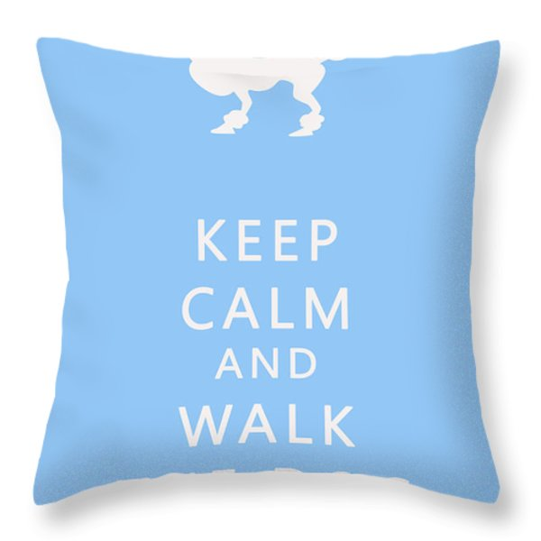 Keep Calm And Walk The Dog Throw Pillow by Georgia Fowler
