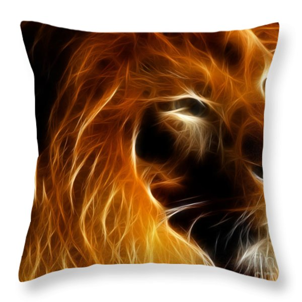 Lord Of The Jungle Throw Pillow by Wingsdomain Art and Photography