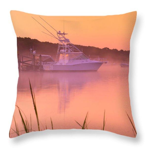 Misty Morning Osterville Cape Cod Throw Pillow by Matt Suess