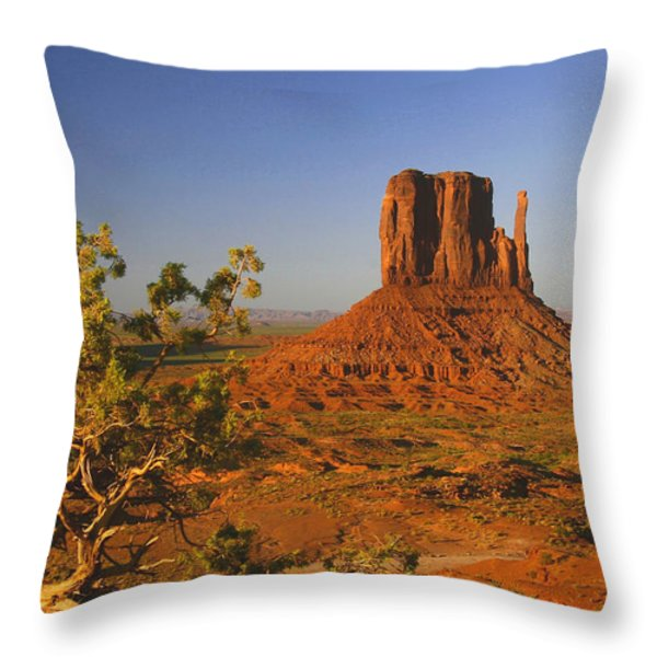 Mitten And Juniper Throw Pillow by Winston Rockwell