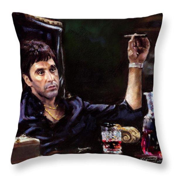 Scarface Throw Pillow by Ylli Haruni