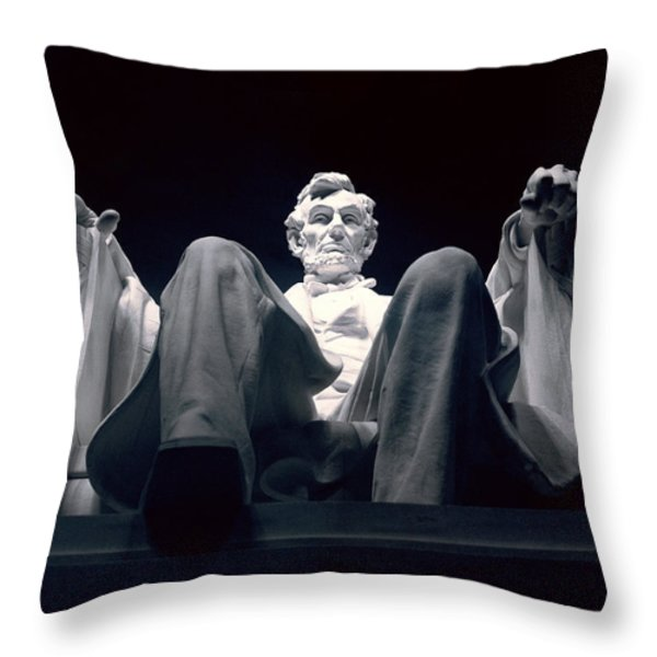 The Abraham Lincoln Statue Throw Pillow by Rex A. Stucky