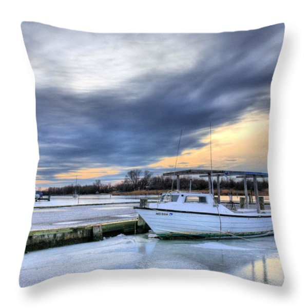 The Calm Before Throw Pillow by JC Findley