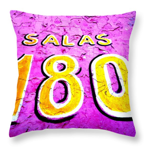 180 Santiago Pinked  Throw Pillow by Funkpix Photo Hunter