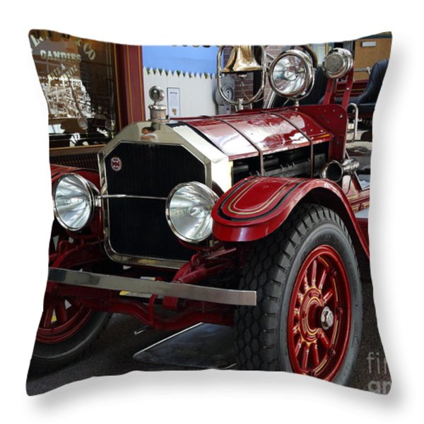 1917 American La France Type 12 Fire Engine Throw Pillow by Wingsdomain Art and Photography