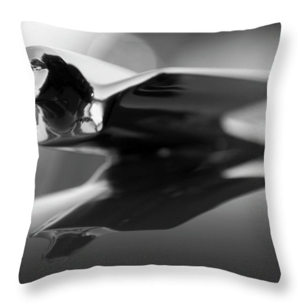 1947 Cadillac Hood Ornament 2 Throw Pillow by Jill Reger