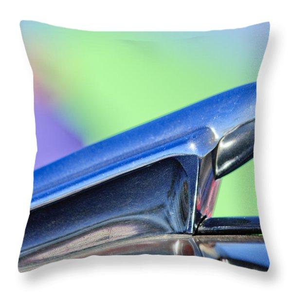 1950 Chevrolet Hood Ornament 3 Throw Pillow by Jill Reger