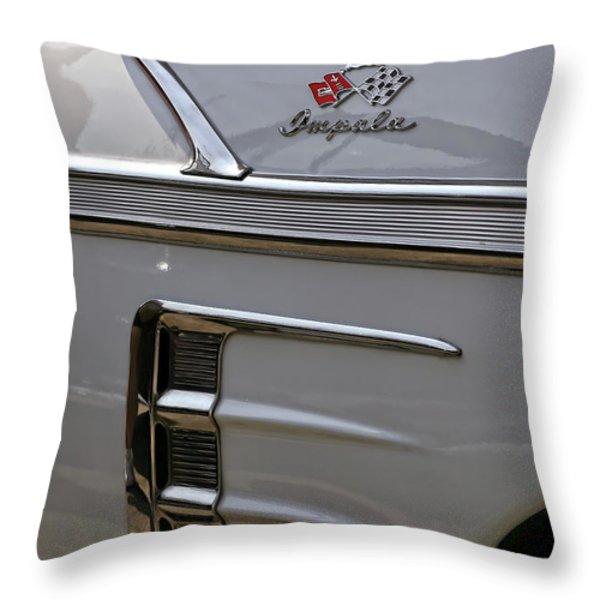 1958 Chevrolet Impala Throw Pillow by Gordon Dean II