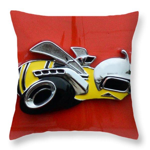1970 Dodge Super Bee Emblem Throw Pillow by Paul Ward
