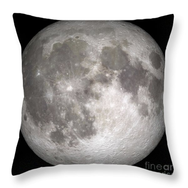 Full Moon Throw Pillow by Stocktrek Images