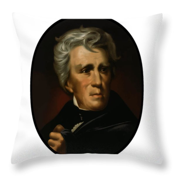 President Andrew Jackson  Throw Pillow by War Is Hell Store