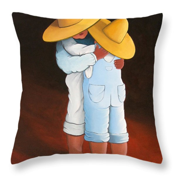 Sweet Embrace Throw Pillow by Lance Headlee