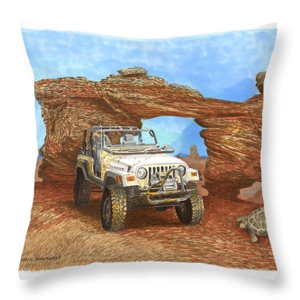 2005 Jeep Rubicon 4 Wheeler Throw Pillow by Jack Pumphrey
