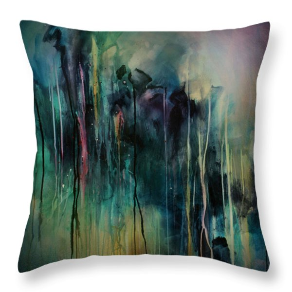 Abstract Throw Pillow by Michael Lang