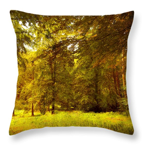 Forest Throw Pillow by Svetlana Sewell