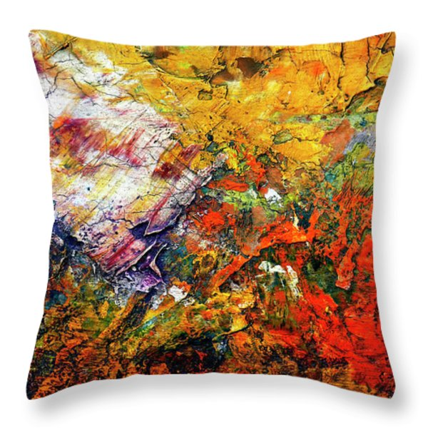 Abstract Throw Pillow by Michal Boubin