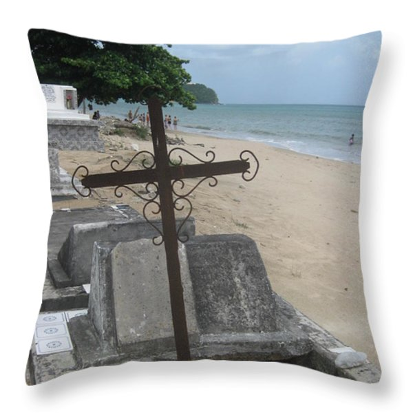 A Cross To Bear Throw Pillow by Robert Margetts