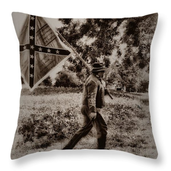 A Long Walk Home Throw Pillow by Bill Cannon
