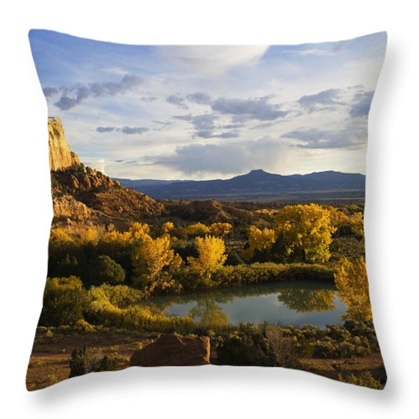 A Peaceful Landscape Stretches Throw Pillow by Ralph Lee Hopkins