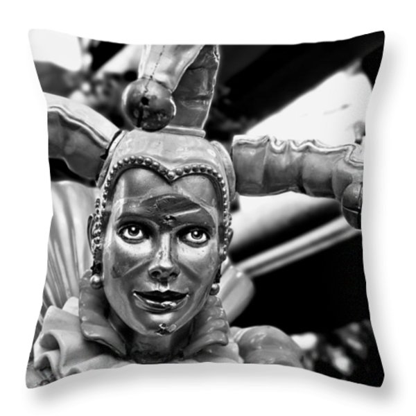 A Smile Behind The Scars B-w Throw Pillow by Christopher Holmes