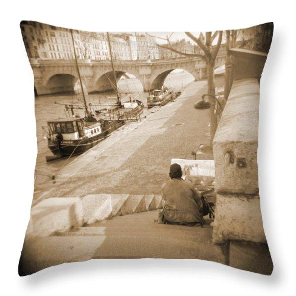A Walk Through Paris 1 Throw Pillow by Mike McGlothlen