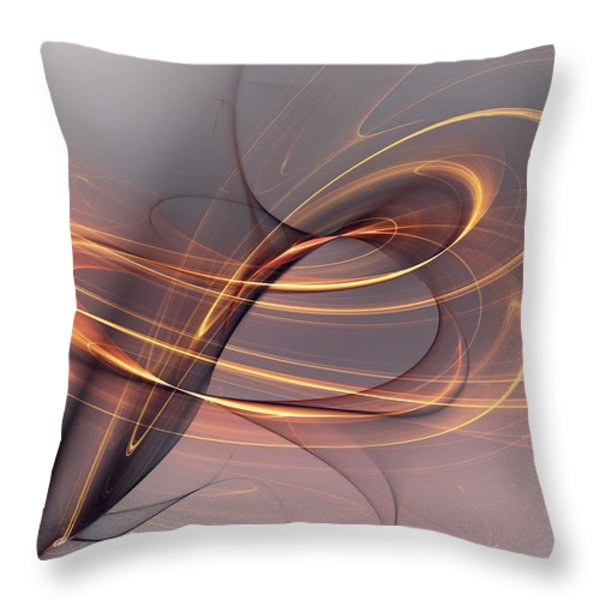 Abstract 090411 Throw Pillow by David Lane