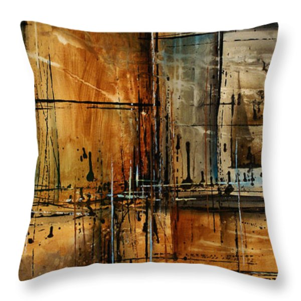 Abstract Design 76 Throw Pillow by Michael Lang