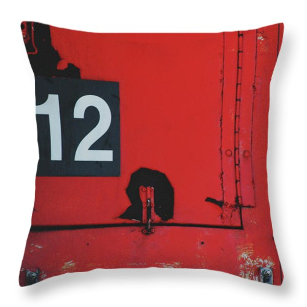 Abstract Number 12 Throw Pillow by AdSpice Studios