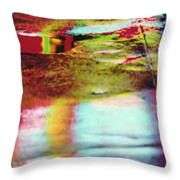 After The Rain Abstract 2 Throw Pillow by Tony Cordoza