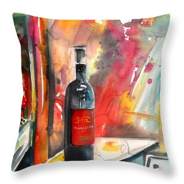 Alabastro Wine From Italy Throw Pillow by Miki De Goodaboom