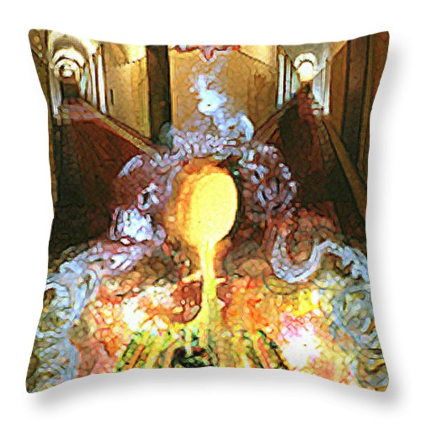 Alchemy Throw Pillow by Anne Cameron Cutri