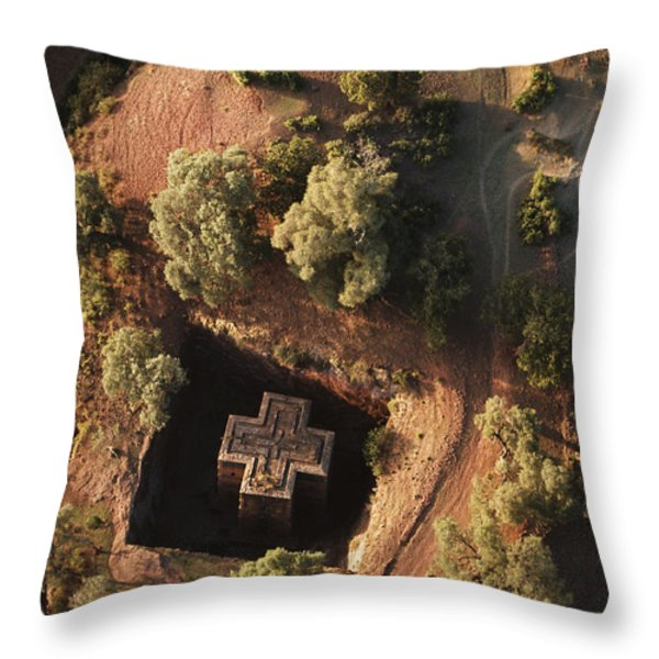 An Aerial View Of Beta Throw Pillow by James P. Blair