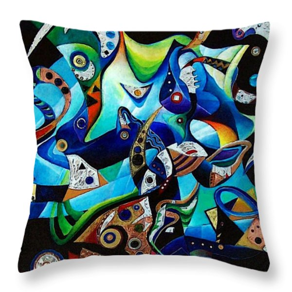 Ancient Echoes Throw Pillow by Wolfgang Schweizer