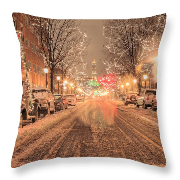 Angelic Snow Throw Pillow by JC Findley