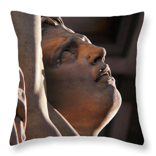 Anguish Throw Pillow by Angela Wright