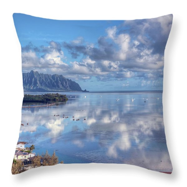 Another Kaneohe Morning Throw Pillow by Dan McManus