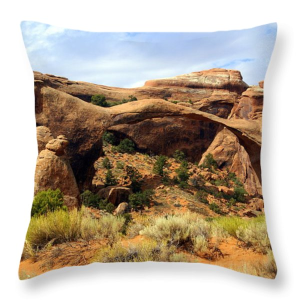 Archs 15 Throw Pillow by Marty Koch