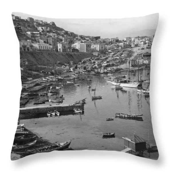 Around This, One Of Three Ancient Throw Pillow by Maynard Owen Williams