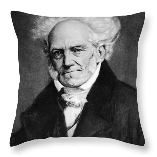 Arthur Schopenhauer Throw Pillow by Granger
