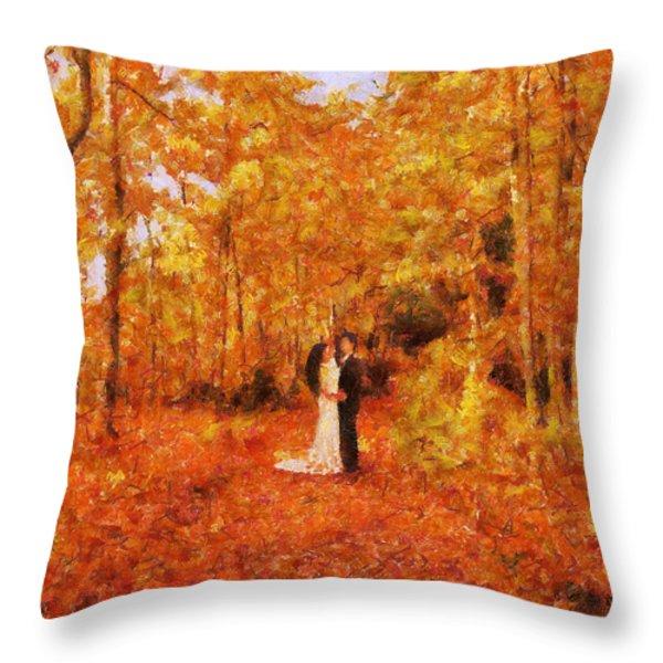Autumn Dance Throw Pillow by Jai Johnson