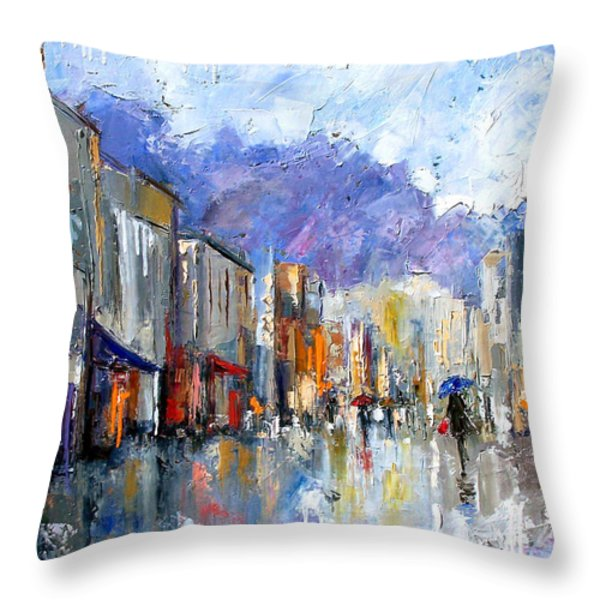 Awnings Throw Pillow by Debra Hurd