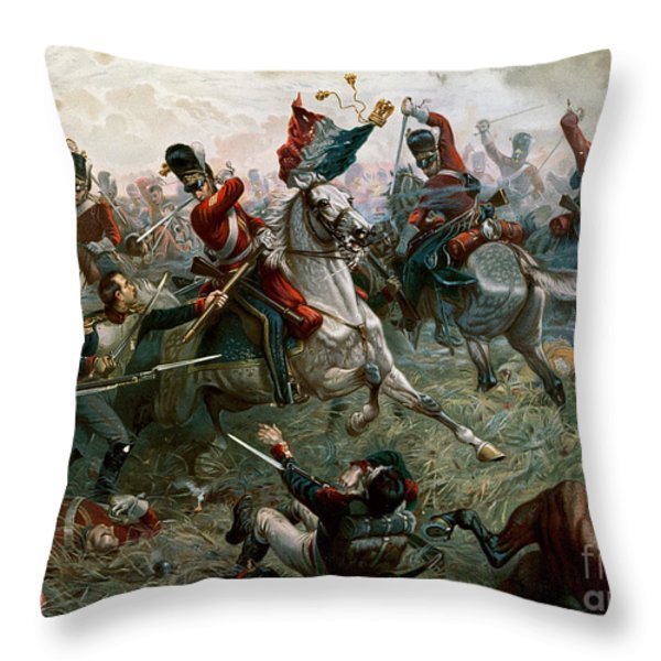 Battle Of Waterloo Throw Pillow by William Holmes Sullivan