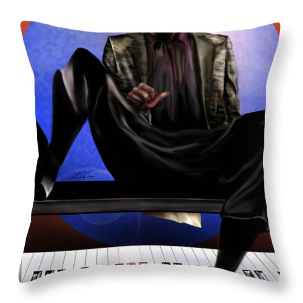 Be Good To Ya - Ray Charles Throw Pillow by Reggie Duffie