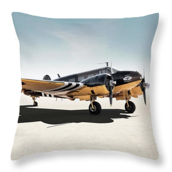 Beechcraft Throw Pillows Fine Art America