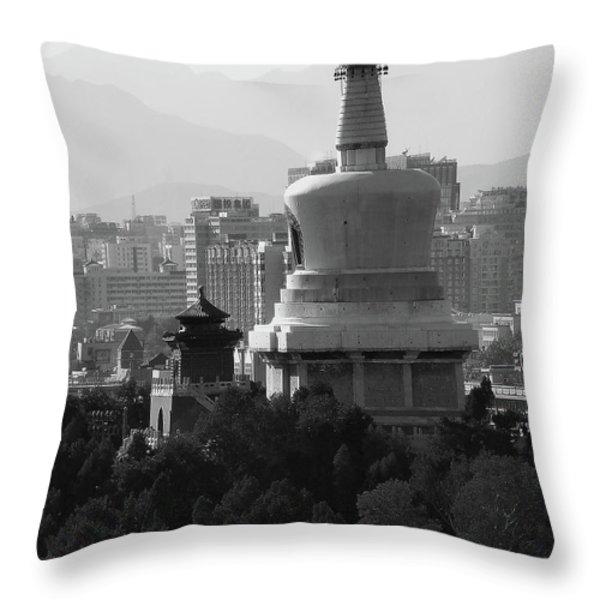 Beijing City 3 Throw Pillow by Xueling Zou