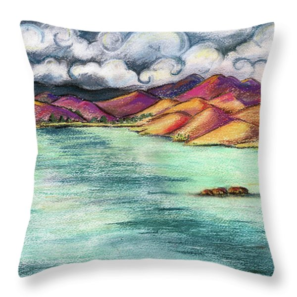 Benicia Bay Throw Pillow by Amelia Hunter
