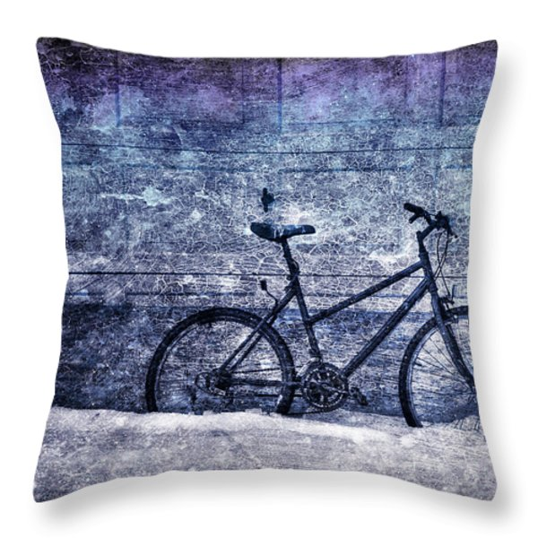 Bicycle Throw Pillow by Evelina Kremsdorf